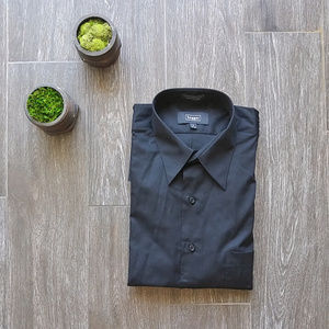 ᴺᵂᴼᵀ ▫Haggar▫ Solid Black Dress Shirt